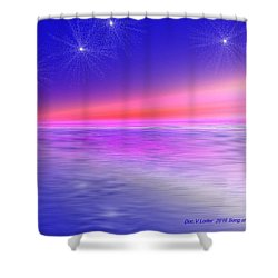 Song Of Night Sea Shower Curtain by Dr Loifer Vladimir