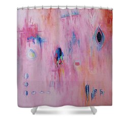 Working Through The Layers Pink Shower Curtain