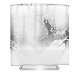 Song Of The Angels Shower Curtain by Bill Cannon