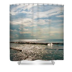 Shower Curtain featuring the photograph Song Of The Sea by Amy Tyler