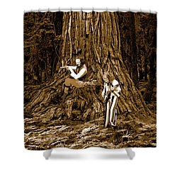 Shower Curtain featuring the photograph Songs In The Woods 2 by Ben Upham