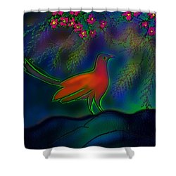 Songs Of Forest Shower Curtain by Latha Gokuldas Panicker