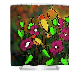 Songs Of October Shower Curtain