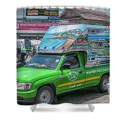 Shower Curtain featuring the photograph Songthaew Minibus by Antony McAulay