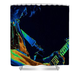 Sonic Guitar Explosions Art 1 Shower Curtain by Ben Upham