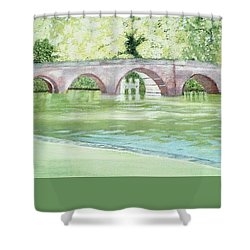 Sonning Bridge  Shower Curtain