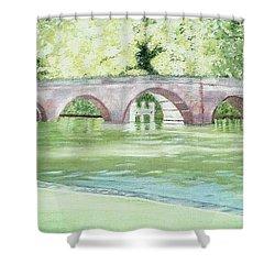 Sonning Bridge Shower Curtain