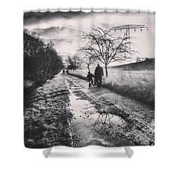 *sonntagsspaziergang  #landscape Shower Curtain