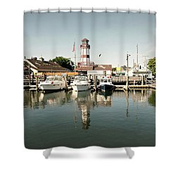 Sono Seaport Shower Curtain by Diana Angstadt