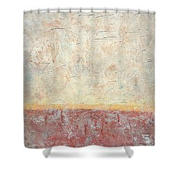 Sonoran Desert #2 Southwest Vertical Landscape Original Fine Art Acrylic On Canvas Shower Curtain