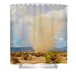 Sonoran Desert Dust Devil Shower Curtain