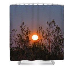 Sonoran Desert Harvest Moon Shower Curtain