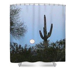 Sonoran Desert Moonset Shower Curtain
