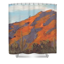 Sonoran Sunset - Art By Bill Tomsa Shower Curtain