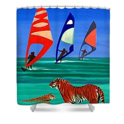 Tigers Sons Of The Sun Shower Curtain