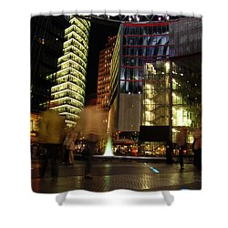 Sony Center Shower Curtain by Flavia Westerwelle