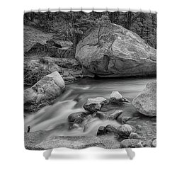 Soothing Colorado Monochrome Wilderness Shower Curtain by James BO Insogna