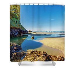 Soothing Seaside Landscape Shower Curtain
