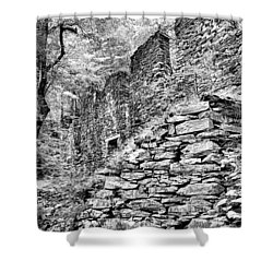 Sope Creek Mill In Black And White Shower Curtain