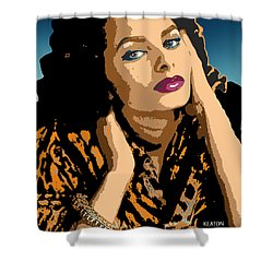 Shower Curtain featuring the digital art Sophia by John Keaton