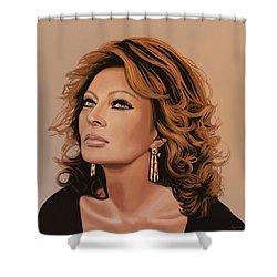 Sophia Loren 3 Shower Curtain by Paul Meijering