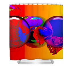 Shower Curtain featuring the digital art Sophistacated Lady by Robert Orinski