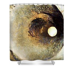 Shower Curtain featuring the painting Sopra Le Nuvole D Argento by Sir Josef - Social Critic - ART