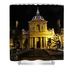 Shower Curtain featuring the photograph Sorbonne Night by Christopher Kirby