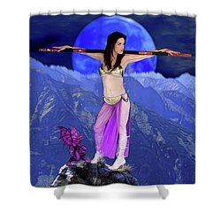 Sorceress And Her Familar Shower Curtain