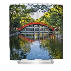 Sorihashi Bridge In Osaka Shower Curtain by Pravine Chester