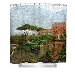 Sorrento Albergo Shower Curtain by Trevor Neal