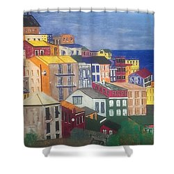 Sorrento Italy Shower Curtain by Judi Goodwin