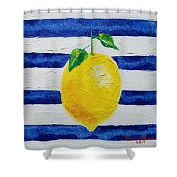 Shower Curtain featuring the painting Sorrento Lemon by Judith Rhue