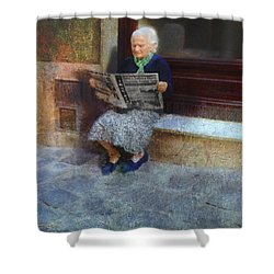 Sorrento News Shower Curtain