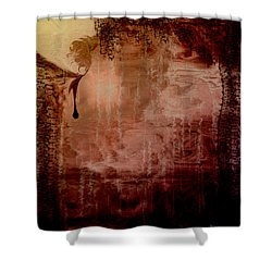 Sorrow Shower Curtain by Linda Sannuti