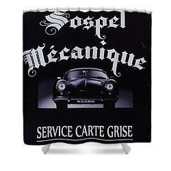 Sospel Mechanic Shower Curtain