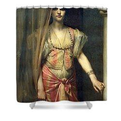 Soudja Sari Shower Curtain by Gaston Casimir Saint Pierre