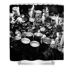 Soul Candles II Shower Curtain by Yoel Koskas