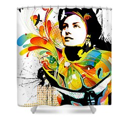 Soul Explosion I Shower Curtain by Chris Andruskiewicz