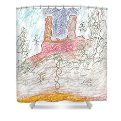 Soul Mates Shower Curtain by Mark David Gerson