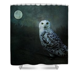 Shower Curtain featuring the digital art Soul Of The Moon by Nicole Wilde
