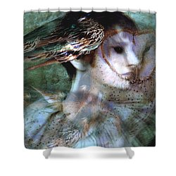 Shower Curtain featuring the painting Soul Portrait by Ragen Mendenhall