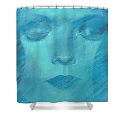 Shower Curtain featuring the painting Soul  by Ragen Mendenhall