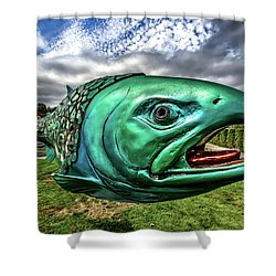 Soul Salmon In Hdr Shower Curtain by Rob Green