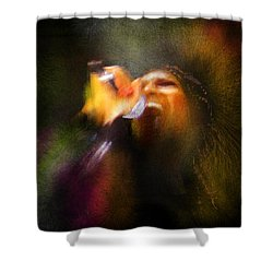Soul Scream Shower Curtain by Miki De Goodaboom