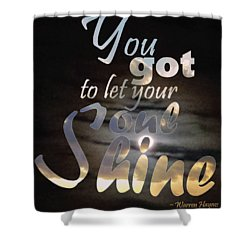 Shower Curtain featuring the photograph Soul Shine by Thomasina Durkay