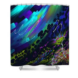 Soul So Blue Shower Curtain