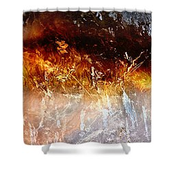 Soul Wave - Abstract Art Shower Curtain by Jaison Cianelli