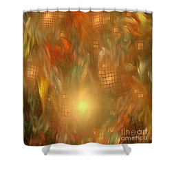 Shower Curtain featuring the digital art Soulistic Art - Released Soul By Rgiada by Giada Rossi