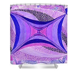 Shower Curtain featuring the drawing Soulviolet by Kim Sy Ok